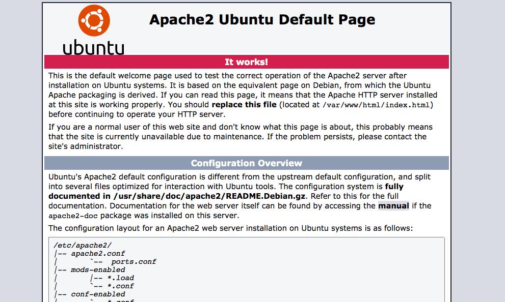 Ubuntu Apache 2 Default Page