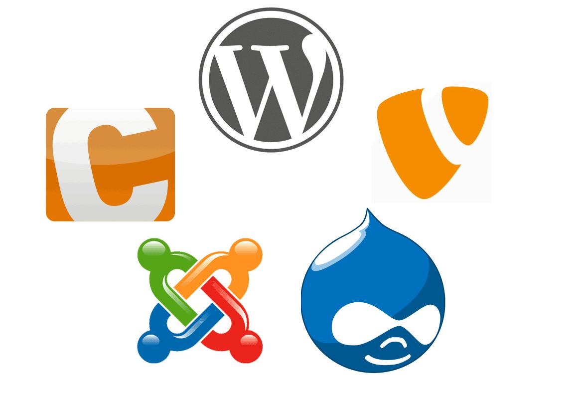 WordPress, Contao, TYPO3, Drupal, Joomla!