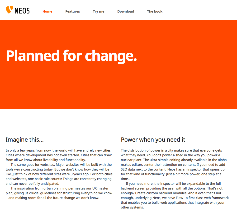 TYPO3 DEMO Website