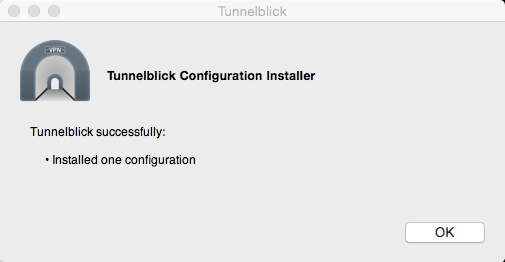 Konfiguration installiert