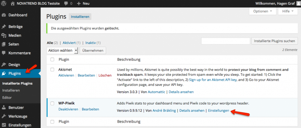 Neues Plugin WP-Piwik
