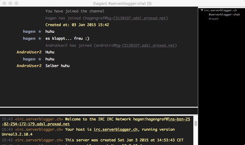 Chat Fenster Lime IRC Client