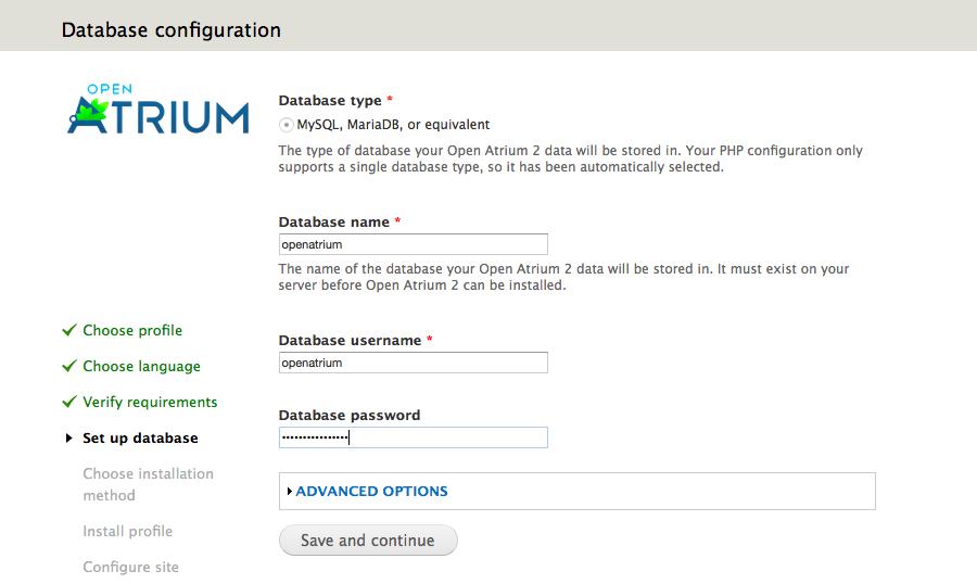 Datenbankkonfiguration