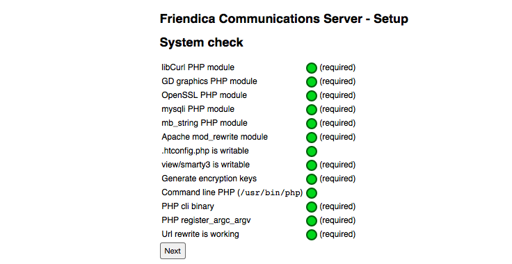 Installation - Systemcheck