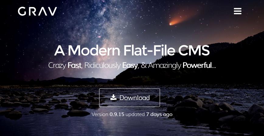 GRAV, ein schnelles, dateibasiertes, einfaches CMS