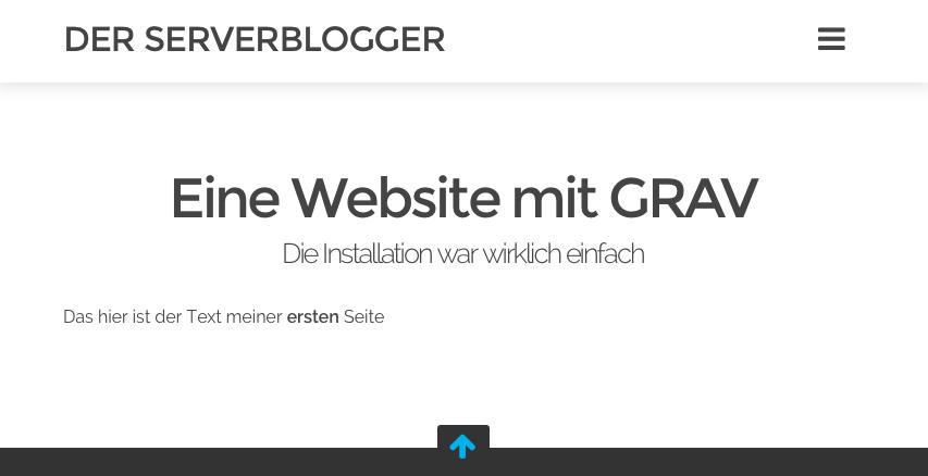 Grav simple page