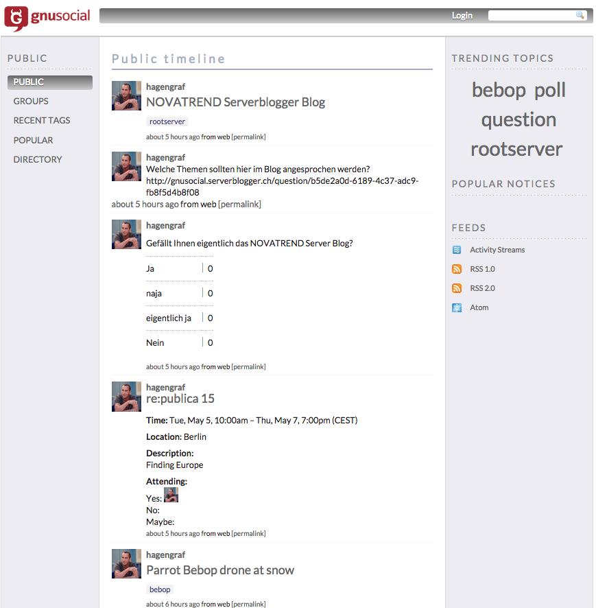 Timeline GNU social