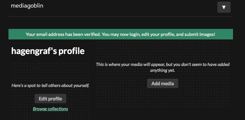 E-Mail wurde verifiziert