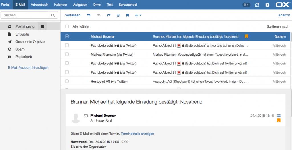 OX App Suite - E-Mail