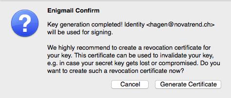 Revocation Zertifikat