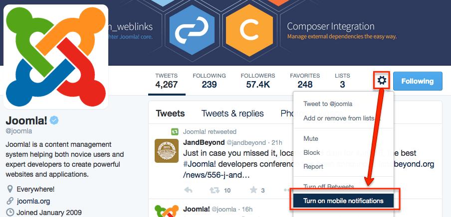 Joomla Twitter