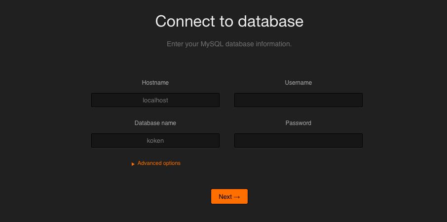 Installation - Datenbank Anbindung
