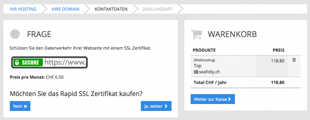 Zertifikatsabfrage