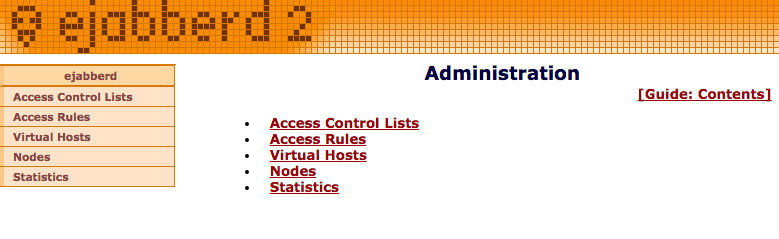 eJabberd - Adminbereich