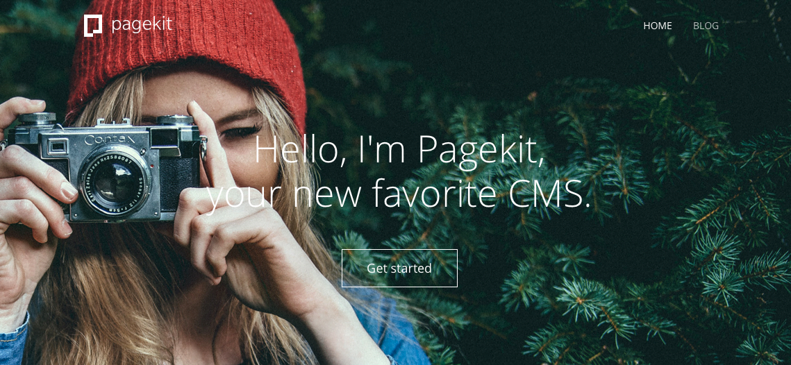 Hello, I'm Pagekit. A new modern CMS