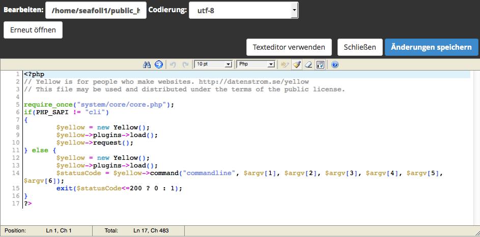 cPanel Code Editor