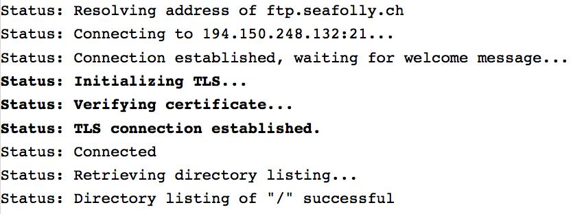 Nachrichten im File Transfer Protokoll