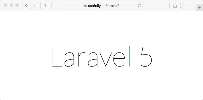 Laravel 5 - Startscreen