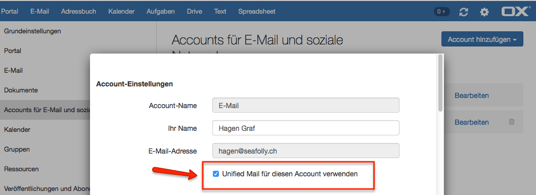 OX App - E-Mail - Unified Mail