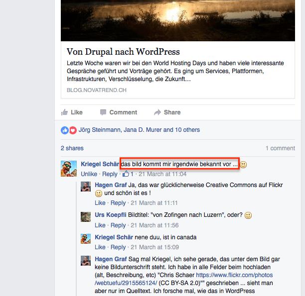 Facebook - Kommentar