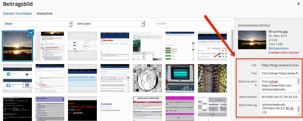 WordPress - Beitragsbild