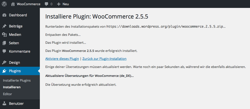 WooCommerce - Installation