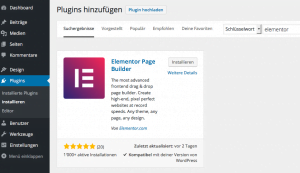 WordPress Plugin: Elementor Page Builder