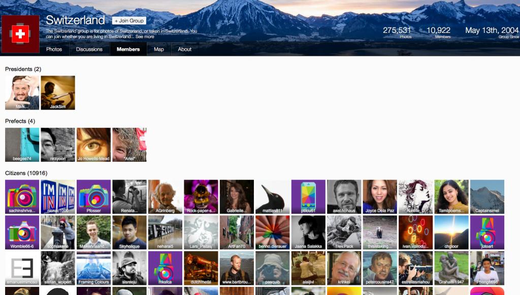 Flickr Group Switzerland
