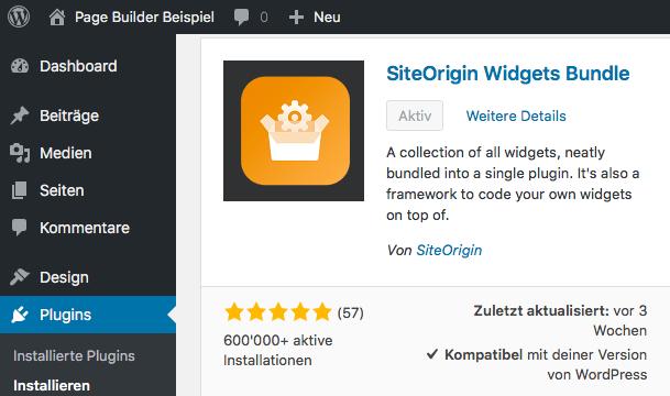 Wordpress - SiteOrigin Widgets Bundle