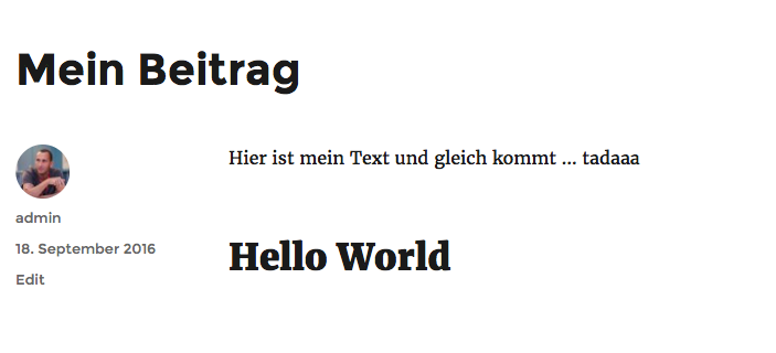 WordPress - Hello World