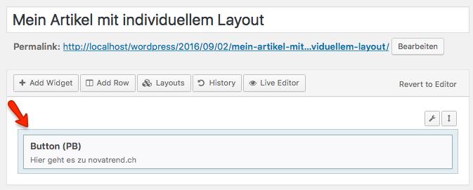 WordPress - Page Builder - Button