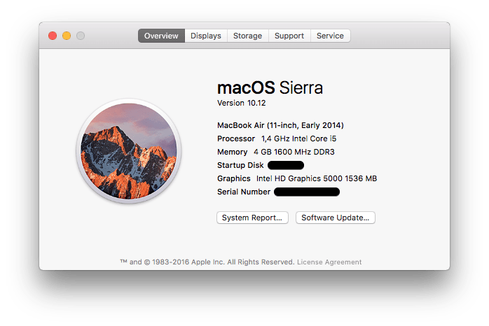 Apple macOS Sierra Version 10.12