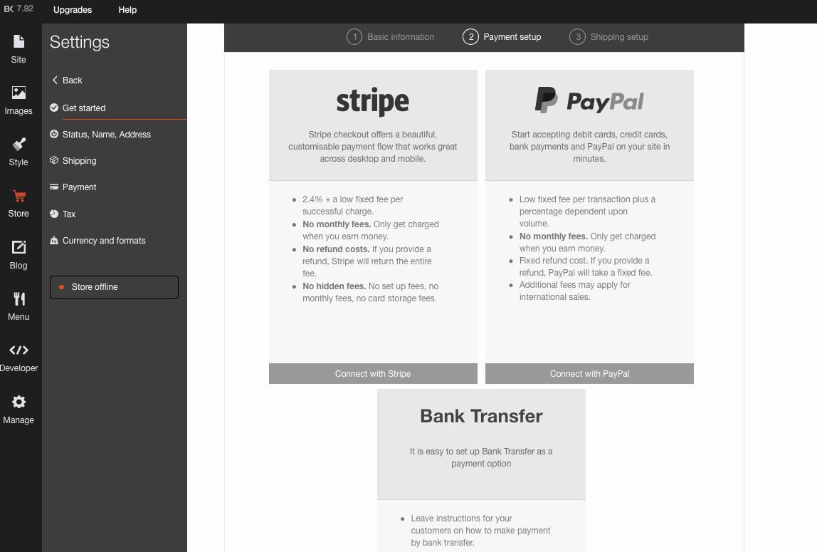 NOVATREND Site Builder - Zahlungsmethode einrichten