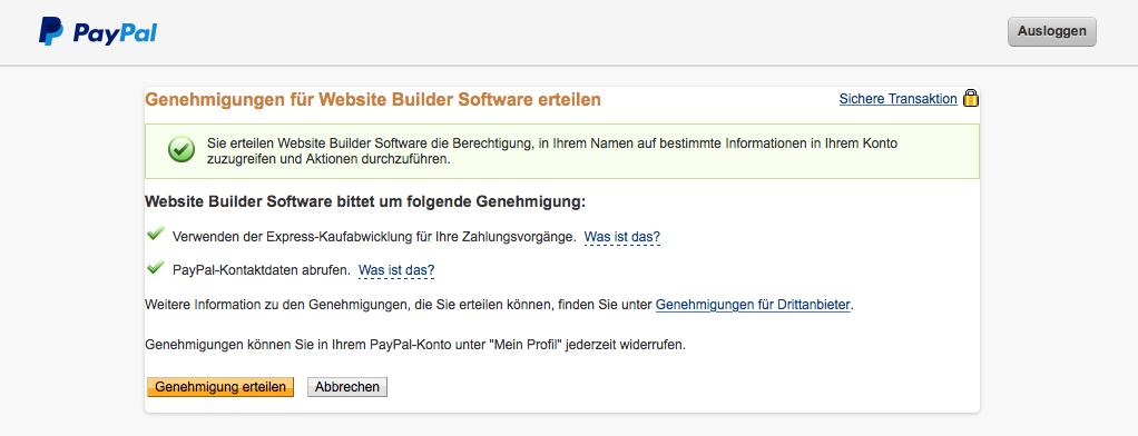 PayPal Anbindung