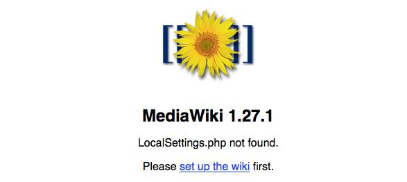 MediWiki - Erster Aufruf