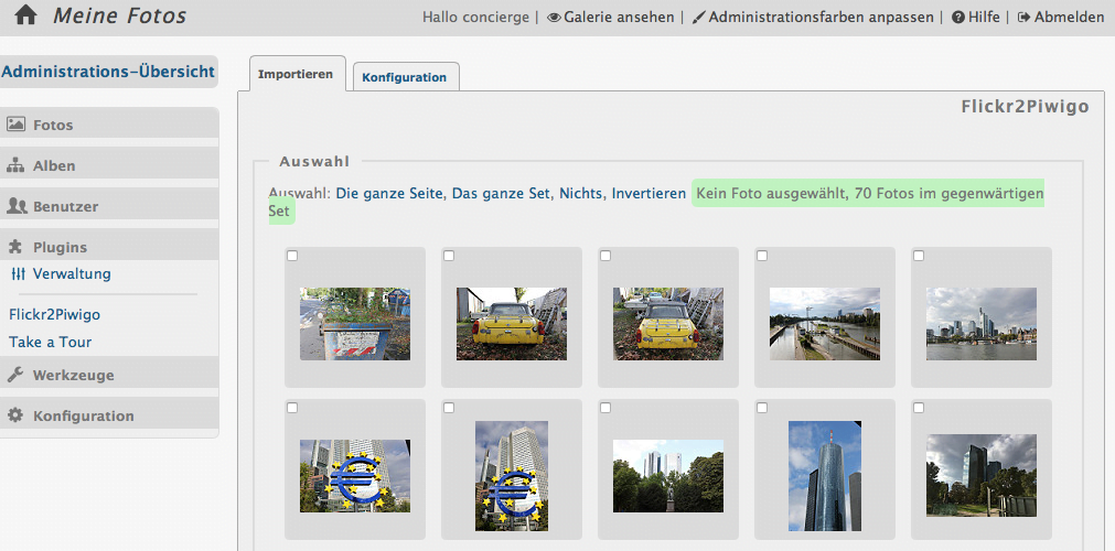 Foto Import aus Flickr