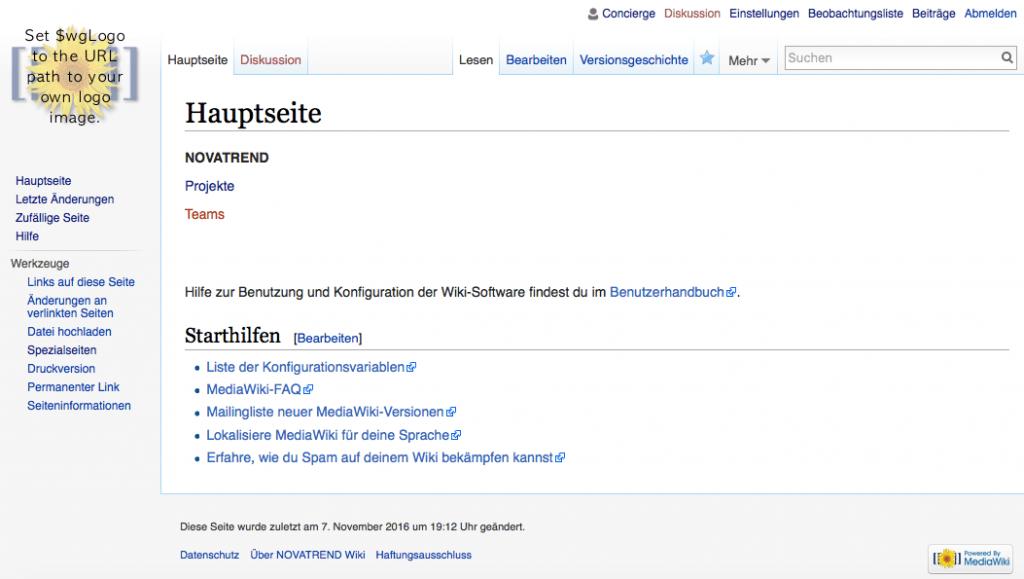 MediaWiki Startseite