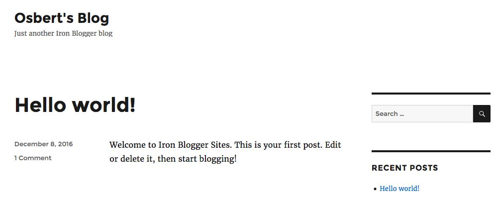 Osbert's Blog