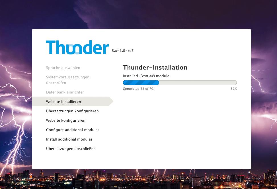 Installation Drupal Thunder