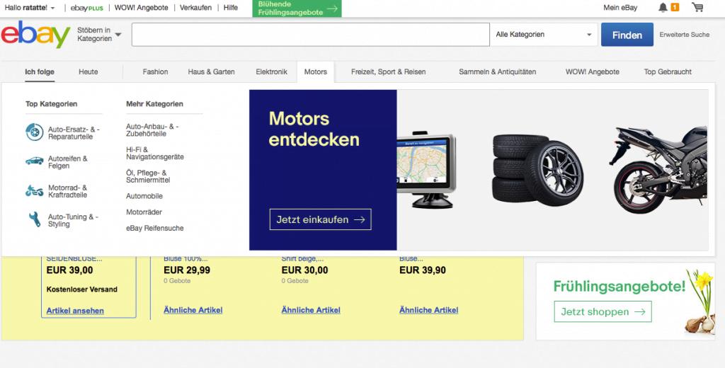 Ebay - Desktop Website