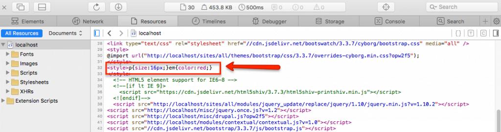 Drupal Website - HTML Quellcode