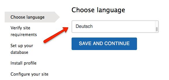 Installer - Deutsch