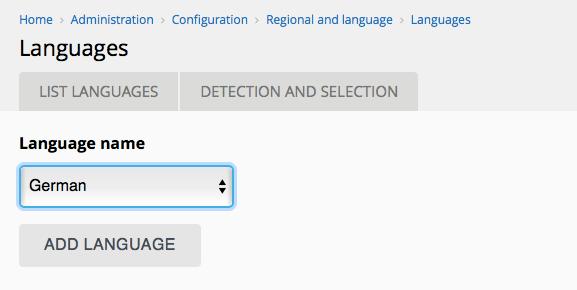 Neue Sprache einstellen