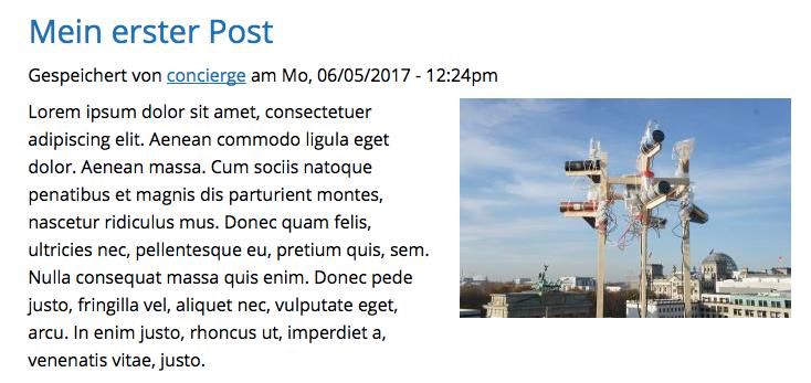 Neuer Posttyp auf der Website