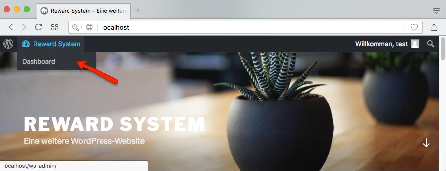 Website für angemeldeten Benutzer
