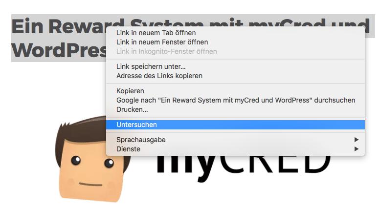 Google Chrome - Untersuchen