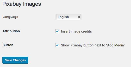 Pixabay Einstellungen