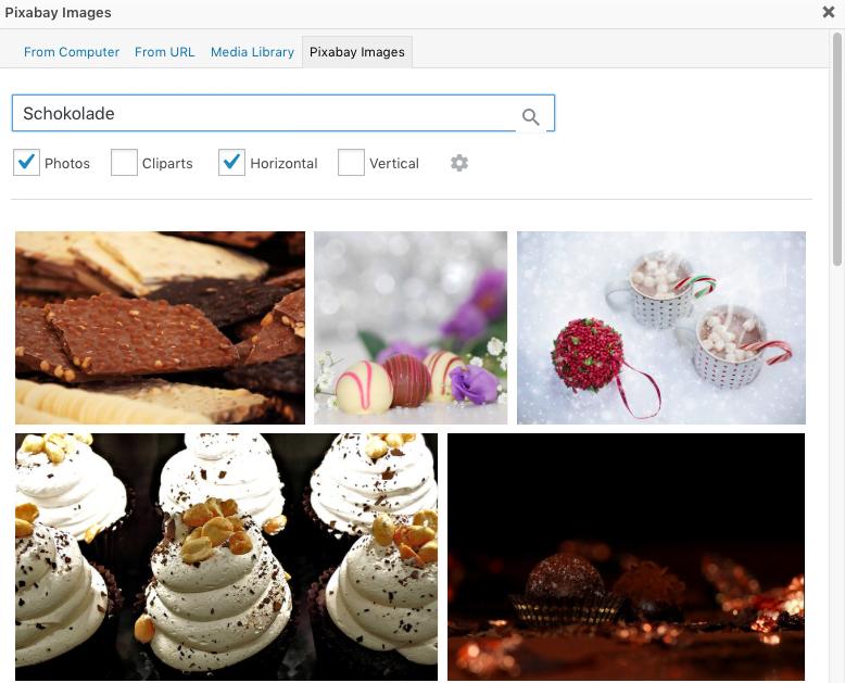 Pixabay Suche