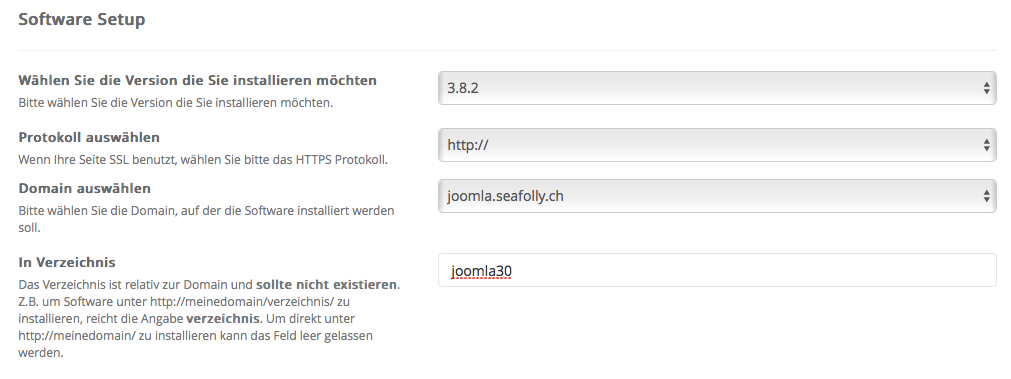 Joomla - Software Setup