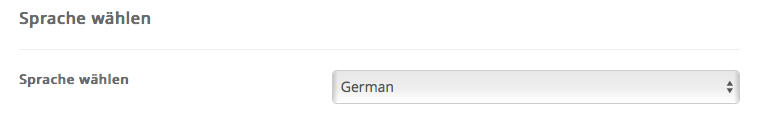 Joomla - Sprache wählen